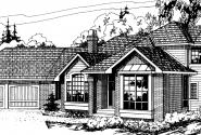 Normandy - 10-050 - Contemporary Home Plans - Front Elevation
