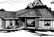 Jefferson - 10-056 - Ranch Home Plans - Front Elevation