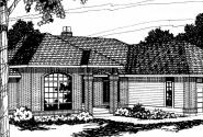 Somerset - 10-057 - Traditional Home Plans - Front Elevation