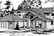 Mayfield - 10-095 - Contemporary Home Plans - Front Elevation