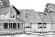 Hayward - 10-134 - Country Home Plans - Front Elevation