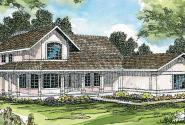 Artesia - 10-168 - Southwestern Home Plan - Front Elevation