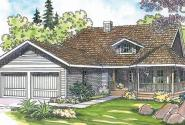 Cortland - 10-195 - Country Home Plans - Front Elevation