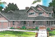 Hearthstone - 10-200 - Country Home Plan - Front Elevation