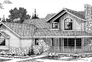 Allegheny - 10-204 - Country Home Plans - Front Elevation