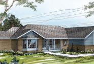 Grayling - 10-207 - Ranch Home Plans - Front Elevation
