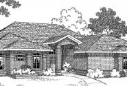 Sedalia - 10-231 - Contemporary Home Plans - Front Elevation