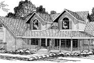 Heartridge - 10-250 - Country Home Plans - Front Elevation