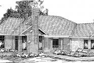 Bridgewater - 10-253 - Ranch Home Plans - Front Elevation