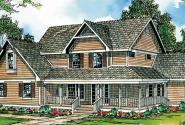 Richland 10-256 - Country Home Plan - Front Elevation