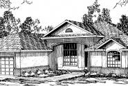 St. Augustine - 10-302 - Mediterranean Home Plans - Front Elevation