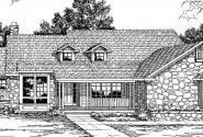 Rainier - 10-303 - Ranch Home Plans - Front Elevation