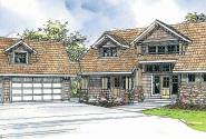 Mariposa - 10-351 - Lodge Home Plan - Front Elevation