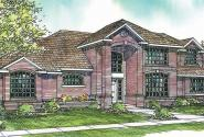Richfield - 10-352 - Traditional Home Plans - Front Elevation