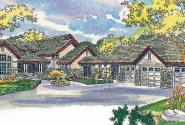 Everheart - 10-440 - Estate Home Plan - Front Elevation
