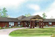 Georgetown - 10-576 - Hexagonal Home Plan - Front Elevation