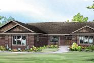 Bakersfield - 10-582 - Ranch Home Plan - Front Elevation