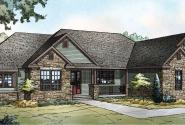 Manor Heart - 10-590 - Ranch Home Plans - Front Elevation