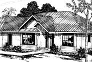 Cypress - 11-001 - Mediterranean Home Plans - Front Elevation