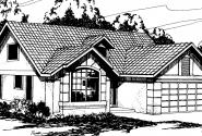 Banyon - 11-004 - Mediterranean Home Plans - Front Elevation