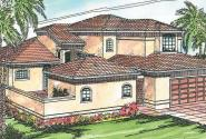 Coronado - 11-029 - Mediterranean Home Plans - Front Elevation