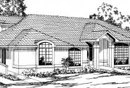 Santa Maria - 11-033 - Spanish Home Plans - Front Elevation
