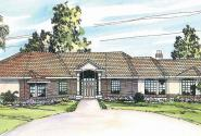 Braxton - 11-040 - Mediterranean Home Plan - Front Elevation