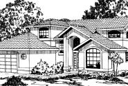 Highland - 11-047 - Mediterranean Home Plans - Front Elevation