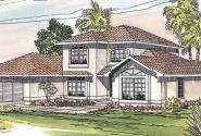 Del Mar - 11-057 - Mediterranean Home Plan - Front Elevation