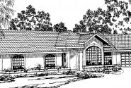Magnolia - 11-073 - Ranch Home Plans - Front Elevation