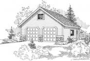 Garage w/Attic - 20-005 - Garage Plans - Front Elevation