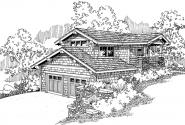 Garage w/Living - 20-008 - Garage Plans - Front Elevation