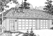 3 car Garage - 20-029 - Garage Plans - Front Elevation