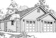 Garage w/Shop - 20-040 - Garage Plans - Front Elevation