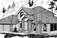 Parker - 30-002 - Contemporary Home Plans - Front Elevation