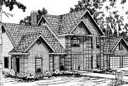Greenville - 30-028 - Classic Home Plans - Front Elevation