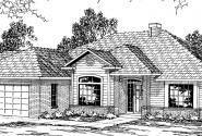 Clarkston - 30-080 - Traditional Home Plans - Front Elevation