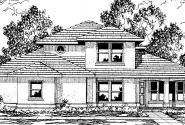 Augusta - 30-082 - Southwestern Home Plans - Front Elevation