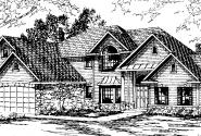 Bennington - 30-088 - European Home Plans - Front Elevation