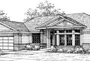 Kincaid - 30-147 - Contemporary Home Plan - Front Elevation