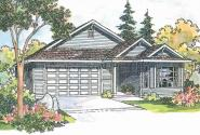 Ashland - 30-191 - Traditional Home Plan - Front Elevation