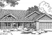 Shreveport - 30-231 - Country Home Plan - Front Elevation