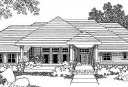 Belvedere - 30-280 - Contemporary Home Plan - Front Elevation