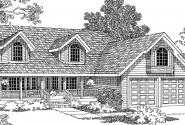 Loveland - 30-282 - Country Home Plan - Front Elevation