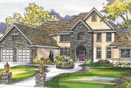Avalon - 30-306 - Estate Home Plan - Front Elevation