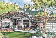 Clearfield - 30-318 - Ranch Home Plan - Front Elevation