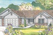Rollins - 30-330 - Ranch Home Plan - Front Elevation