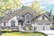 Edmonton - 30-342 - European Home Plan - Front Elevation