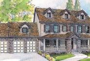 Hanson - 30-394 - Estate Home Plan - Front Elevation