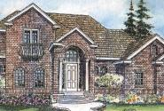Reynolds - 30-396 - European Home Plan - Front Elevation